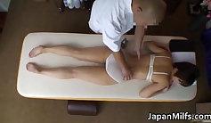 An asian milf getting deep pussy massaged