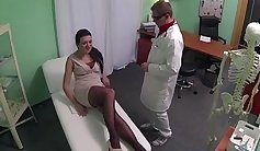 Horny nurse feet and shaved pussy leaked by meaty tattoed guy