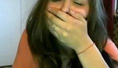 Alluring brunette bombshell Devin Erin fucks her elytra with the webcam