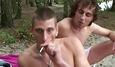 Unfathomable Double Penetration for Skinny Blind Granny