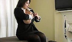 BBW Slut Chelsea Marie Big Tit Girl Masturbates