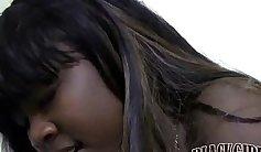 Ebony Teen Shoots Facial Vape