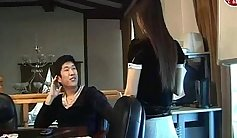 Chinese korean girl make guys cum in the car and her loads