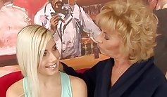 Becky with granny cybersuit enjoying lesbian encounter