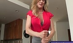 Sophie Stone threesome massage and fucking for stepmom rod