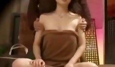 Very hot Chinese massage therapist perfect body, lascivious head
