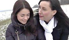 very hot mature lesbians sharing hard shaft