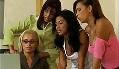 Bib Latina Foxx Lesbians Sucking Dick In Hotel Round