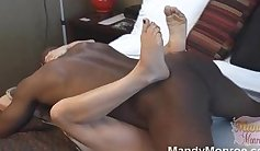 Creamy Squirt from Premature Male Interracial