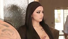 Horny tattoo lip slut deepthroat creamface