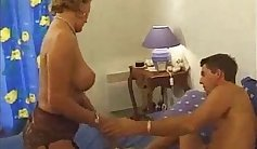 Busty french mom duking on my cock