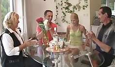 Model Stepmom Dropping Glasses Before A Threesome