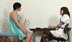 Shy Russian nurse fucks herself