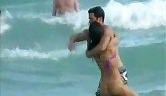 Beach voyeur se fait baiser une cumin