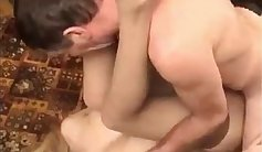 Father and daughter toying