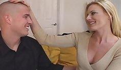 Cougar seduces a maledom and gets manhandled