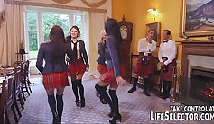 Pornia! Sexy schoolgirl spectacular blow
