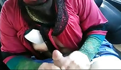 mature Turkish women holding a big-dick and martyfingers sucking