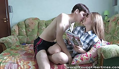Barely Legal Teen And Her Friend Ride Dick On Cam