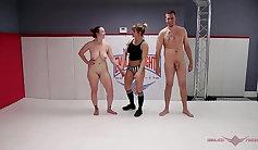 Busty Georgia Web Wrestling gym fuck