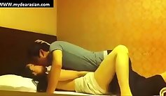 Blonde cheats on her korean couple doing naughty things