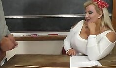 Plumper Cam Shows Big Tits Riding Her Teacher