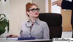 Cute dark skinned girl gets fucked away in the office