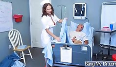 Muscled doctor seduces Angela Black nails dream