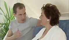 Mature granny gets penetrated hard