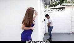 Stunning milf secretly fucks husband hard