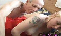 Mom getting MY grandpa tittys cock in her mouth..JoJo Cuci