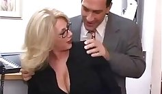 Milf going to extreme at the office