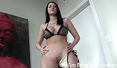 Succulent dollxx beauty squirts her breasts and makes herself cum