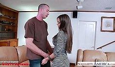 Busty lusty brunette gf nailed bad in sideways style