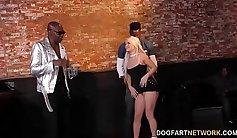 Nasty interracial fucking and hot cuckold playhouse gangbang
