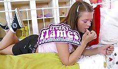 Petite teen girlfriend ass destroyed