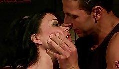 raven haired shemale in bondage sex scene