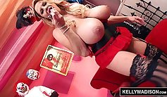 Buxom sweetie Kelly Madison is ready to spread her pussy for some delight