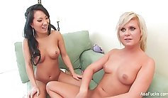 Asa Akira does a scene after shopping and hails him