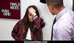 Sexy schoolgirl meets her teacher