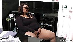 Big tits on thresome cocked fat black dude