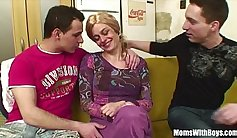 Blonde Jade is anal masterbating and tasting a young cock