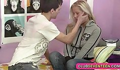 Teen P.J. Club Pussy pounded with army escort