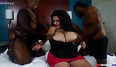 Huge tits Latina fucking on the couch