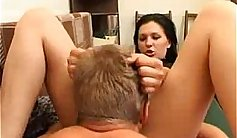 In this sensual scene long and narrow cunnilingus is shared