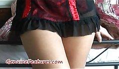 Incredible brunette Massages Her Ass