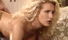 Busty blonde in nice thigh high stockings fucks